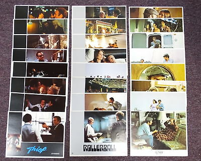 "Lot James Caan 3 Lobby Card Sets Rollerball Thief Slither Original 11""x 14"""