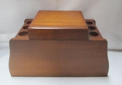 Vintage Tobacco Humidor and Pipe Stand Holder Display Holds six pipes
