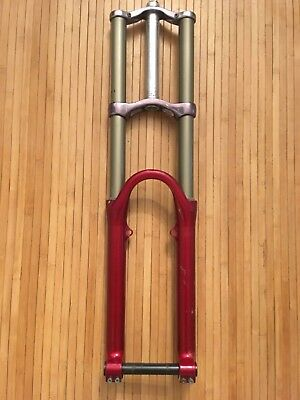 Vintage Rock Shox Boxxer Pro 26 Suspension Fork DH Downhill Red