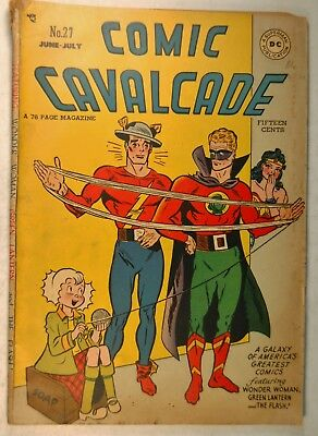 Comic Cavalcade #27 (June-July 1948, DC) Wonder Woman - Green Lantern - Flash