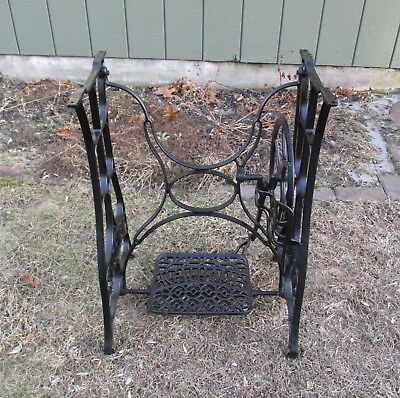 Antique New Home Treadle Sewing Machine Cast Iron Base - PICKUP ONLY