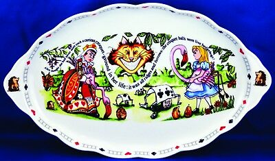 "P Cardew Design Alice In Wonderland Tea Party 12.5"" Serving Platter Play Croquet"