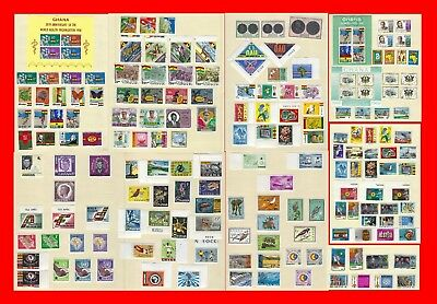 Ghana Huge Value Collection Complete Very Lightly Hinged Mint Sets 0038