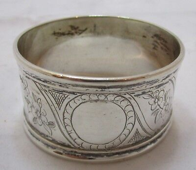 Antique Victorian Sterling silver napkin ring, 34g, 1855