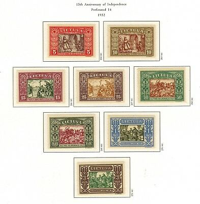 Lithuania #264-271 Complete Set 1932 MNH