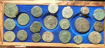 Lot of 20 Fine to VF Ancient Roman Coins: Largest 24 mm, Note Highlighted Coins!