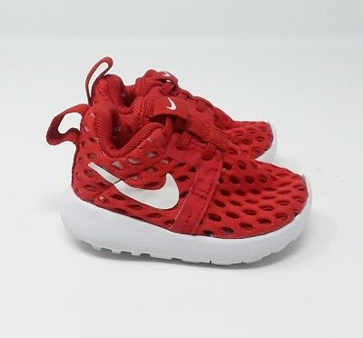 reputable site a1570 12276 NIKE ROSHE ONE Flight (Baby Size 2C) Weight Red Athletic Sneakers Medium