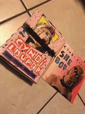 Vintage Topps Cindy Lauper Trading Card Box 36 Unopened Packs 1985 Bonus 45 7""