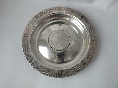"Solid Sterling Silver ""Silver Wedding"" Dish 1972/ Dia 12.8 cm/ 134 g"