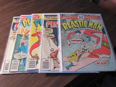 Plastic Man #12 13 13 19 20 DC Bronze Age Vintage Comic Book Collection Lot JLA