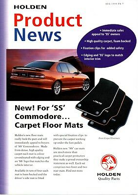 Holden Commodore VT SS Accessories Sales Brochure