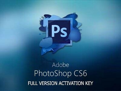 Photoshop CS6 * FULL VERSION Activation Key * INSTANT EMAIL DELIVERY *