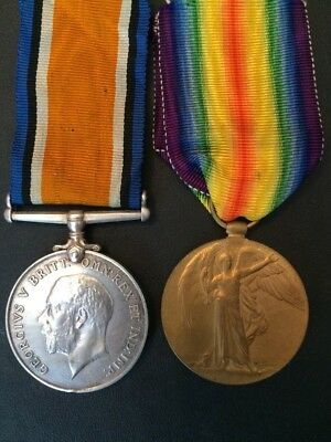 Medal pair, 31st Alberta Regiment, wounded at Arras