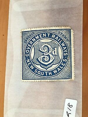 Australian Stamp 1900s - New South Wales Railways Parcel Stamp