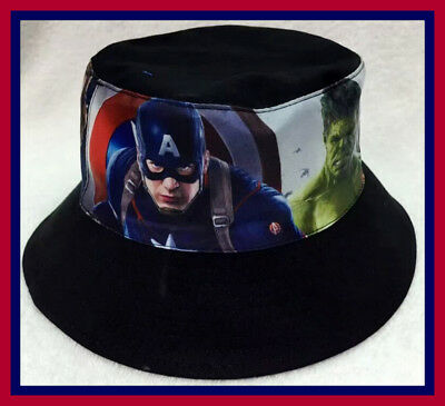 Children's Cotton Bucket Hat - Avengers - Top Quality