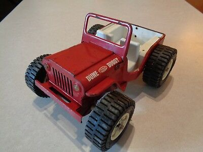 Vintage Late 1960s Tonka #2445 Jeep Dune Buggy Red, Steel, Played with Condition