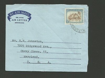 1959 Western Samoa Air Letter To Us