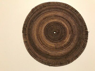 "Finely Woven Native North American Indian Sea Grass 7"" Disk"