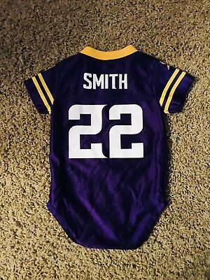607de60a6 ... switzerland nfl team apparel infant baby minnesota vikings 22 harrison  smith 3 6 mo jersey cb351