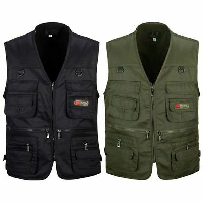 Men's Fishing Vest with Multi-Pocket Zip for Photography / Hunting / Travel W8Y6
