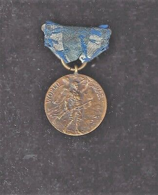 NUMBERED Orig US State of New York WWI Service Victory Medal #56096 on reverse