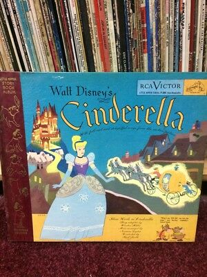 Cinderella 78rpm box set vinyl RARE Walt Disney Victor RCA Mickey Mouse Princess