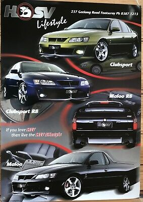 Holden HSV VY era Showroom Poster See also brochure listed