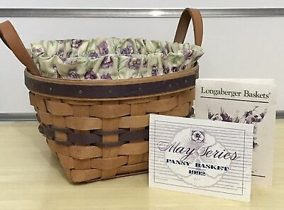 Longaberger May Series Pansy Basket Combo 1992