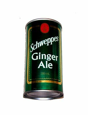 Schweppes Ginger Ale Canadian Pull Tab Top Soda Pop Can A1+ Flat Beer Zip Ofr