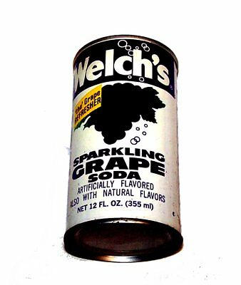 Welch's Sparkling Grape Soda Pull Tab Pop Top Can A1+ Flat Beer Sign Coke Ofr