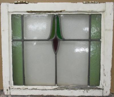 "OLD ENGLISH LEADED STAINED GLASS WINDOW Abstract Drop & Stripes 20.75"" x 17.75"""