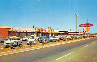 Sacramento CA Cordova Lodge Drive-In Restaurant Old Cars Postcard