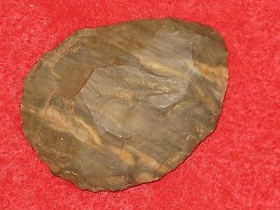 Authentic Native American artifact arrowhead Missouri scraper / preform S10