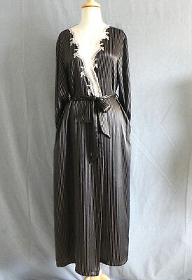 Pink Sheer Lace Cover Over Dressing Gown Robe with Ribbon Trims Sz 10//12 2102