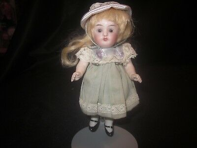"Antique German Bisque Doll - 5 1/2"" Cabinet Doll - All Bisque - So Cute!"