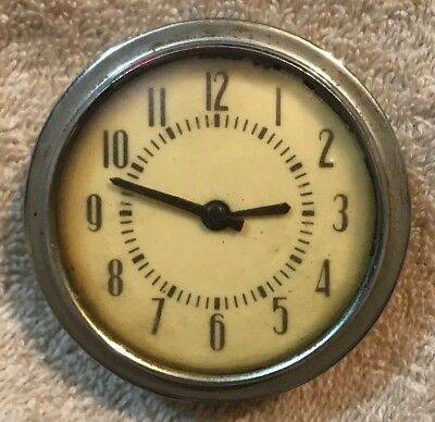Vintage Kohler & Co. Laufamholz Automobile Aircraft Clock - Made In Germany