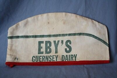 Eby's Guernsey Dairy Cloth Hat Milk Bottle  Elkhart  INDIANA IND In
