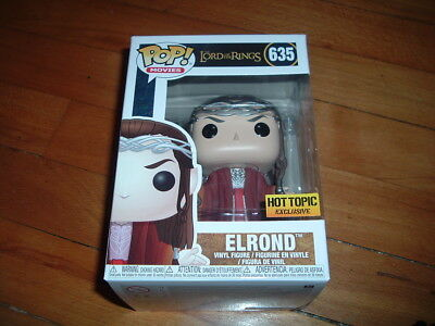 Funko Pop! Elrond #635~ Hot Topic Exclusive~ New~ Mint~ Lord Of The Rings Series