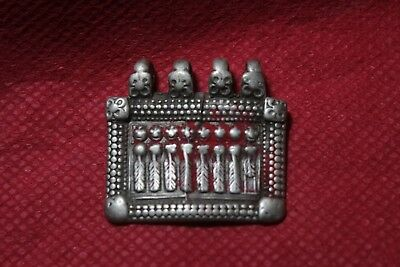 Old Tribal South Indian Goddess Silver With Gold Plated Amulet Pendant SC 04