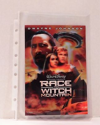 RACE TO WITCH MOUNTAIN with The Rock Disney Movie Club 3D Lenticular Card Rare