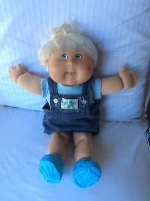 Cabbage Patch Doll Boy - Platinum Hair - Never Played With - Shoes Included