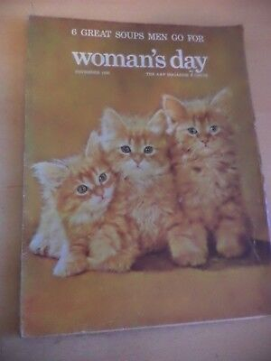 WOMANS DAY old vintage WOMENS magazine 1950s nov 1956 crafts fashion cookery