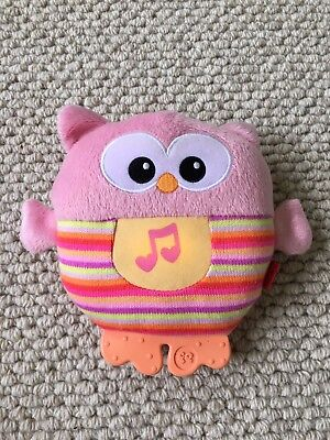 Fisher-Price Musical Toy Owl Singing Classical Music Nursery Rhymes Soft Toy