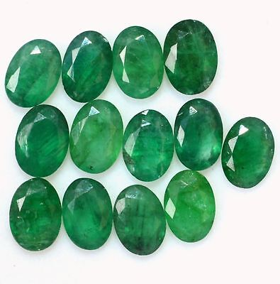 Natural Emerald 7x5 MM Oval Cut Green Loose Untreated Gemstone Lot