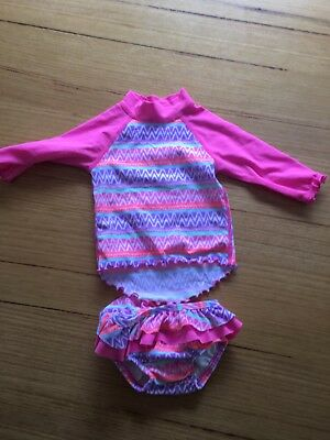 Baby Girls Escargot Swim Rashie Bathers Size 00 | 3-6 Mths