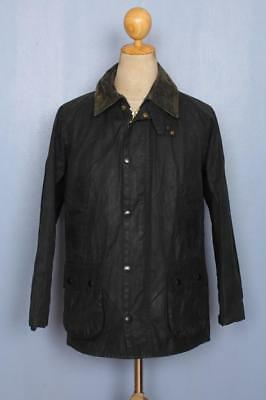 BARBOUR Bedale Waxed Jacket Navy Size 36 Small