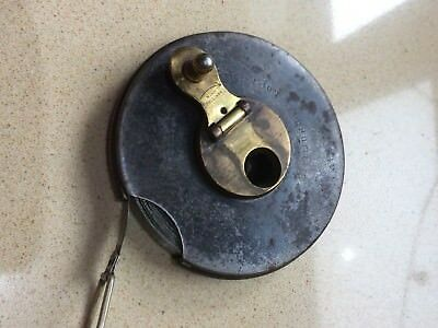 Genuine Vintage Metal Tape Measure Cricket Pitch 66 Feet Reconditioned No 435