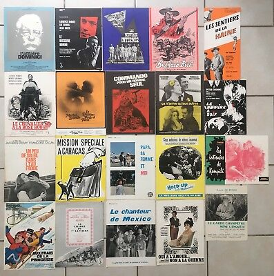 Lot de 20 Synopsis French - Press-Book Cinéma 70-80's - Gabin Bourvil Deneuve ..