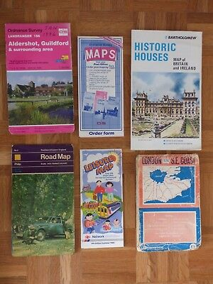 Maps Joblot - South & East England, Aldershot, Historic Houses, London & Other.