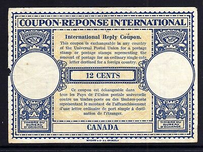 INTERNATIONAL REPLY COUPON: CANADA c1950 12 CENTS